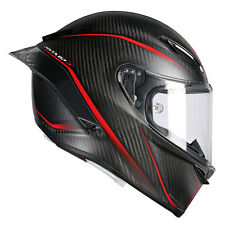 CASCO INTEGRALE AGV PISTA GP R - MULTI GRANPREMIO MATT CARBON - RED TAGLIA M/L
