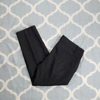 J. Crew Skinner City Fit dress pants capri career womens black sz 8 used