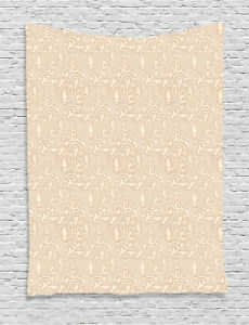 Retro Beige Tapestry Wall Hanging Decoration for Room 2 Sizes Available