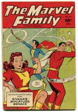 The Marvel Family 34 VG 4.0 Fawcett 1949 Captain Marvel Stan Musial Mary Marvel