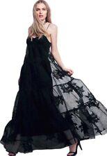 Free People Black Rose Tulle Maxi Dress Black Size 8