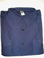 NWOT MEN'S COMBAT CLOTH MILITARY NAVY BLUE BDU UNIFORM SHIRT SIZE XXL REGULAR