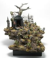 Warhammer Age of Sigmar Flesh Eater Courts, Crypt Ghouls unit display diorama