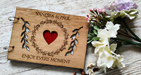 Personalised Wooden Engraved Wedding Reception Guestbook - Rustic Guestbook