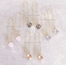 *EXTREMELY RARE*$170 NEW GOLD 14K BAR CHAIN CRYSTAL EARRINGS BHLDN ANTHROPOLOGIE