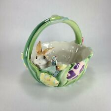 Fitz And Floyd Painting Easter Eggs Ceramic Easter Basket