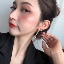 Fashion New Ear Cuff Earrings Women Statement Shinning Crystal Hanging Earrings