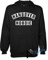 HANGOVER HOODED HOODIE  BLACK NEW UNISEX TOP Sweatshirt jumper