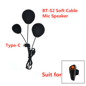 Motorcycle Helmet Headset Hard Speaker Soft Cable Microphone For BT-S2