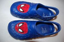 Boys Shoes BLUE RED SPIDERMAN FACE Preformed Rubber ANKLE STRAP Summer L 2-3