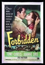 FORBIDDEN * CineMasterpieces MOVIE POSTER TONY CURTIS LOVE KISS SEXY 1953
