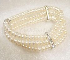 Pearl Silver Plated Beaded Fashion Bracelets