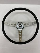 1976 1977 Chevelle Comfort Grip Steering Wheel Kit Black Round Holes