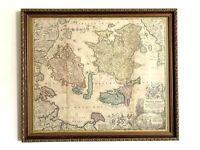 FRAMED AUTHENTIC MAP OF DENMARK 1710