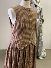 Woman's Reenacting Old Western style Flannel Check 2-Piece Suit - Sz Large Nwt