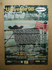 UNIVERSE 98 - KNEBWORTH HOUSE - BLACK GRAPE - MUSIC PRESS ADVERT 30 X 22 CM