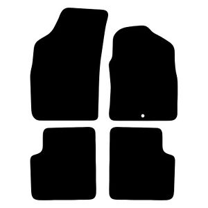Fiat 500 2008 to 2012 Tailored Black Car Floor Mats Carpets 4pc with 1 Clip
