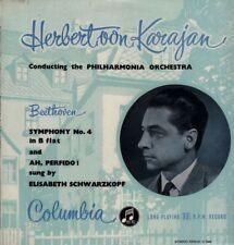 Beethoven (Vinile LP) Symphony No.4 - KARAJAN-COLUMBIA - 33CX 1278-UK-Ex/In buonissima condizione