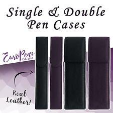 Europens Magnetic Leather Pen Case / Pouch - Black - Cross Pen Compatible