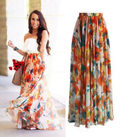 New BOHO Women Floral Dress Long Maxi Full Skirt Summer Beach Sun Dresses Beach
