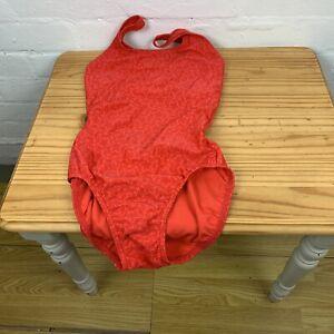 Speedo Allover RED Swimsuit UK10 (32)