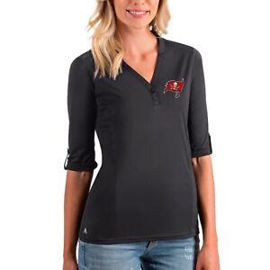 Antigua • Buccaneers 3/4 Sleeve Charcoal Accolade Shirt Size Medium