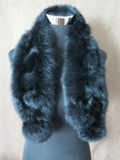 100% real rabbit fur scarf /fur collar / black wrap/cape shipping free