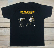 VAN MORRISON Born To Sing : No Plan B Graphic Short Sleeve Black T-Shirt Size XL