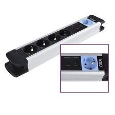 Alluminio Master Schiavo Ciabatta 5 x Protezione contatto 1,5m Cavo MS2500