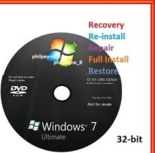 Windows 7 Ultimate 32-Bit Bootable DVD SP1 FULL Install Repair Recovery UK