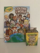 Crayola COLORS OF THE WORLD Coloring Book & 32 Pack of Crayons