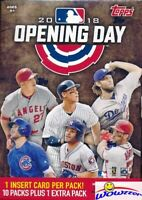 2018 Topps Opening Day Baseball Factory Sealed HUGE 11 Pack Blaster Box-77 Cards