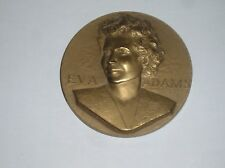 Solid Bronze Eva Adams Director of the Mint of the United States 1961 Medal