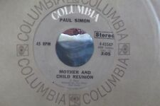 45? PAUL SIMON MOTHER & CHILD REUNION / PARANOIA BLUES ON COLUMBIA RECORDS