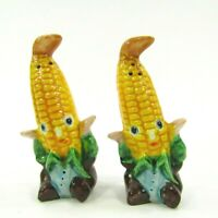 Vintage Anthropomorphic Corn People Salt & Pepper Shaker Set Japan        INV245