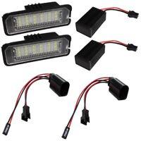 Paire lumières de plaque d'immatriculation pour Vw CC Eos Golf 4 5 6 Lupo Polo