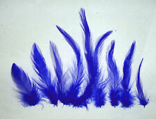 """ROYAL BLUE Rooster Hackle Feathers 2-6"""" Dyed Loose 7 gram bag Approx 150 ct"""