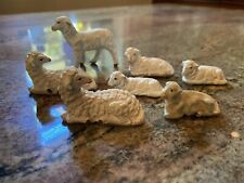Antique Creche Putz Nativity Lamb Collection