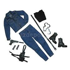 1/6 Scale The Killer Female Agent Jeans Set fit Back Widow Tomb Raider Body