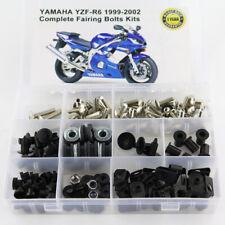 Motorcycle Bodywork Screws Fairing Bolt Kits For Yamaha YZF R6 1999-2002 Silver