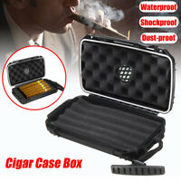 Waterproof 5 Cigar Humidor Caddy Case Box Dust-proof Shockproof For Home Travel