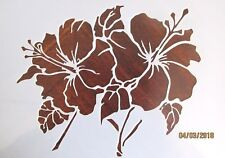 Flower Hibiscus Stencil/Template Reusable 10 mil Mylar