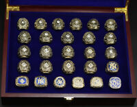 New York Yankees 1927 - 2009 World Series Rings MLB Ring with Wooden Display Box