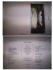 MENU COMPAGNIE GENERALE TRANSATLANTIQUE FRENCH LINE / PAQUEBOT DE GRASSE 1973