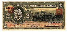 Mexico/Puebla ... P-S389 ... 2 Pesos ... 1914 ... *VF+* ...  SQUARE SEAL