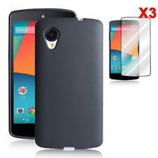[NEXUS 5 TEXTURE] Google Nexus 5 TPU Case+3XClear Screen Skin - Premium 2014 NEW