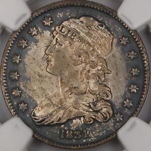 1831 Capped Bust Silver Quarter 25c, NGC UNC Details, Choice BU Coin