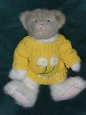 """11"""" Two-Tone Boyds March Bear w/Yellow Spring Sweater Retired"""