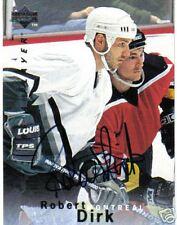95/96  BE A PLAYER SIGNATURE CARDS ROBERT DIRK