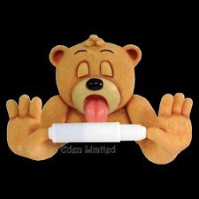 *ANDRE X* Bad Taste Bears Hand Painted Resin Toilet Roll Holder (24.5cm)